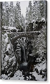 Acrylic Print featuring the photograph Christine Falls In The Winter by Tikvah's Hope