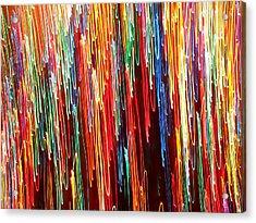 A Rainbow Melting  Acrylic Print