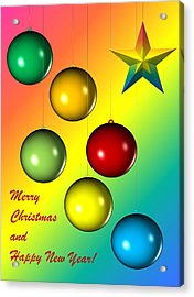 Christmas And New Year Acrylic Print