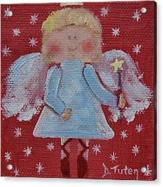 Christmas Angel Acrylic Print by Donna Tuten