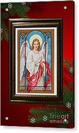 Acrylic Print featuring the digital art Christmas Angel Art Prints Or Cards by Valerie Garner