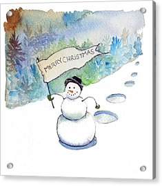 Acrylic Print featuring the painting Christmas Announcement by Katherine Miller
