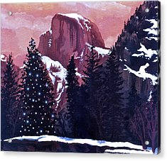 Christmas At Half Dome Acrylic Print by Sara Coolidge