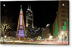 Christmas At Monument Circle Acrylic Print