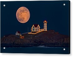 Christmas At Nubble Acrylic Print