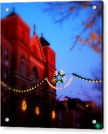 Acrylic Print featuring the photograph Christmas At Our Lady Of Mount Carmel  by Aurelio Zucco