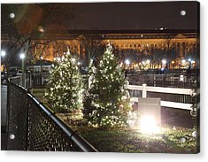 Christmas At The Ellipse - Washington Dc - 01131 Acrylic Print by DC Photographer