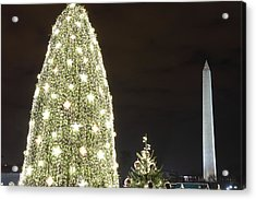Christmas At The Ellipse - Washington Dc - 01137 Acrylic Print by DC Photographer