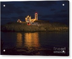 Christmas At The Nubble Acrylic Print