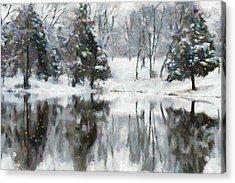Christmas At The Pond Acrylic Print