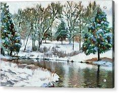 Christmas At The Pond Too Acrylic Print