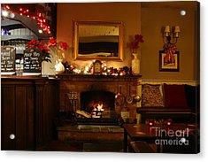 Christmas At The Pub Acrylic Print