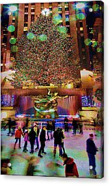 Acrylic Print featuring the photograph Christmas At The Rock by Chris Lord