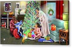 Christmas Back In Da Day Acrylic Print by Reggie Duffie
