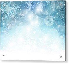 Christmas Background Acrylic Print by Adyna