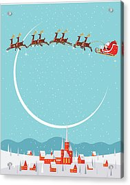 Christmas Background Acrylic Print by Akindo