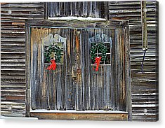 Christmas Barn Doors Acrylic Print