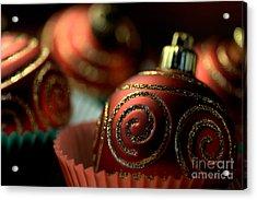 Christmas Bauble Cupcakes Acrylic Print