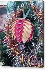 Christmas Baubles Acrylic Print by Debra Piro