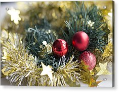Acrylic Print featuring the photograph Christmas Baubles by Jocelyn Friis