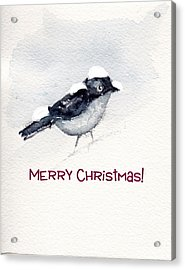 Acrylic Print featuring the painting Christmas Birds 02 by Anne Duke