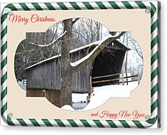 Christmas Bridge Acrylic Print by Eric Liller