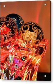Christmas Bulbs Acrylic Print by Kristin Elmquist