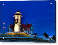 Christmas By The Sea Acrylic Print by Michael Petrizzo