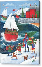 Christmas By The Sea Acrylic Print by Peter Adderley