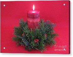 Christmas Candle - 1 Acrylic Print