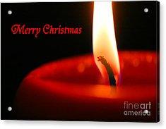 Christmas Candle Acrylic Print by E B Schmidt