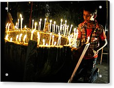 Christmas Candles Acrylic Print by Money Sharma