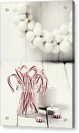 Christmas Candy Acrylic Print by Claudia Totir