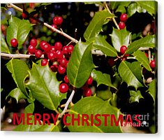 Christmas Card 1  Acrylic Print by Rod Ismay