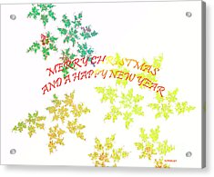 Christmas Card I Acrylic Print by Tatjana Popovska