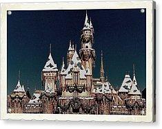 Christmas Castle Acrylic Print by Nadalyn Larsen