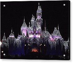 Christmas Castle Night Acrylic Print