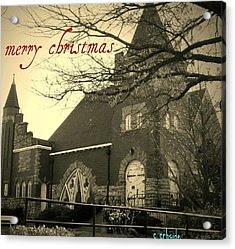 Christmas Chapel Acrylic Print by Chris Berry