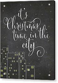 Christmas City Acrylic Print
