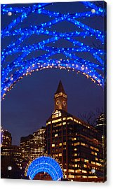 Christmas Coluimbus Park Boston Acrylic Print by James Kirkikis