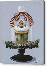 Christmas Cupcake Acrylic Print by Catherine Holman