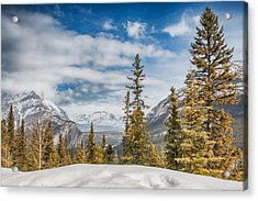 Christmas Day In Banff Acrylic Print