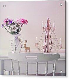 Christmas Decorated Table Acrylic Print by Julia Davila-lampe