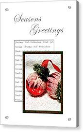 Christmas Decoration 1 Acrylic Print