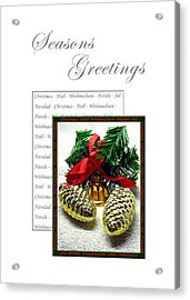Christmas Decoration 2 Acrylic Print