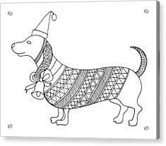 Christmas Dog Acrylic Print