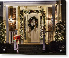 Acrylic Print featuring the photograph Christmas Door 1 by Betty Denise