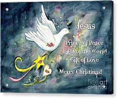 Christmas Dove Acrylic Print