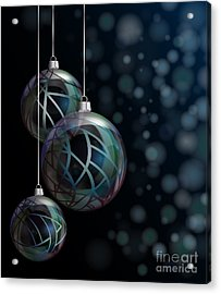 Christmas Elegant Glass Baubles Acrylic Print by Jane Rix