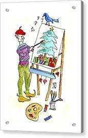 Christmas Elf Artie Acrylic Print